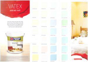 Bảng màu sơn Vatex