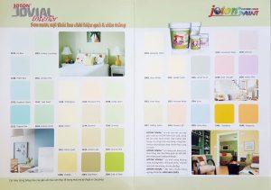 Bảng màu sơn nội thất cao cấp Joton Jovial