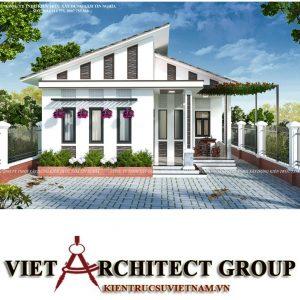 Kiến trúc nhà 1 tầng đẹp đơn giản phổ biến